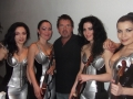 Asturia girls with Simon, after show